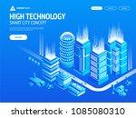 high technology concept... | Shutterstock .eps vector #1085080310