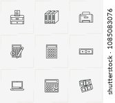 accountant line icon set with... | Shutterstock .eps vector #1085083076