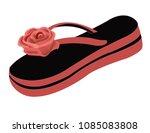 women slippers thongs | Shutterstock .eps vector #1085083808