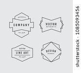 linear thin line badge logo... | Shutterstock .eps vector #1085093456