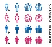 people and population icon set | Shutterstock .eps vector #1085095190