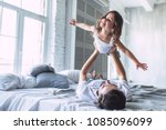 i love you  dad  handsome young ... | Shutterstock . vector #1085096099
