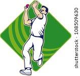 illustration of a cricket... | Shutterstock .eps vector #108509630