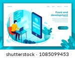 vector concept illustration   ... | Shutterstock .eps vector #1085099453