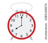 alarm clock icon. flat color... | Shutterstock .eps vector #1085100074
