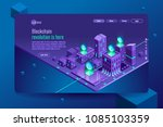 blockchain crypto currency or...   Shutterstock .eps vector #1085103359