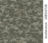 Military woods camouflage seamless pattern - stock vector