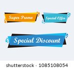 collection of sale discount... | Shutterstock .eps vector #1085108054