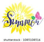 a beautiful summer inscription... | Shutterstock .eps vector #1085108516