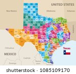 vector map of texas's... | Shutterstock .eps vector #1085109170
