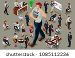 businessmen executive people in ... | Shutterstock .eps vector #1085112236