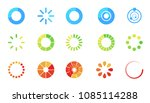 loading icon set isolated on... | Shutterstock .eps vector #1085114288