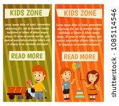 children. kindergarten.... | Shutterstock .eps vector #1085114546