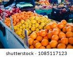 fresh lemons and other citrus...   Shutterstock . vector #1085117123