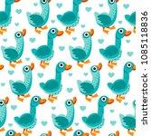seamless pattern from farm... | Shutterstock .eps vector #1085118836