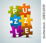 vector colorful puzzle... | Shutterstock .eps vector #108512039