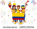 russia 2018 world cup  colombia ... | Shutterstock .eps vector #1085120546