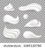 fresh whipped cream of... | Shutterstock .eps vector #1085120780