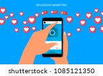 influencer marketing concept... | Shutterstock .eps vector #1085121350
