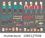 grandpa and grandma abstract... | Shutterstock .eps vector #1085127038