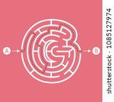 letter g shape maze labyrinth ...   Shutterstock .eps vector #1085127974