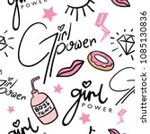 girl power concept seamless... | Shutterstock .eps vector #1085130836