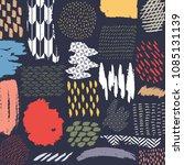 japanese pattern vector. brush... | Shutterstock .eps vector #1085131139