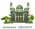 islamic mosque building with...