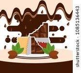 chocolate candy card | Shutterstock .eps vector #1085136443