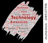 vector conceptual digital smart ... | Shutterstock .eps vector #1085137598