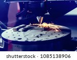 3d metal printer produces a... | Shutterstock . vector #1085138906