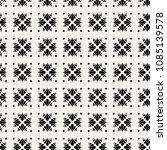 seamless flower polka pattern.... | Shutterstock .eps vector #1085139578