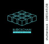blockchain technology outline... | Shutterstock .eps vector #1085145158