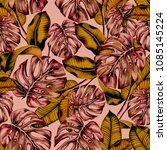 hand painted watercolor... | Shutterstock . vector #1085145224
