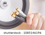 input rca connectors on the... | Shutterstock . vector #1085146196