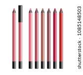 Set Of Realistic Vector Lip...