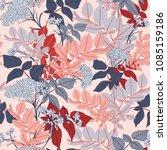 gentle romantic pink vector...   Shutterstock .eps vector #1085159186