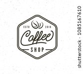 modern vintage coffee shop... | Shutterstock .eps vector #1085167610