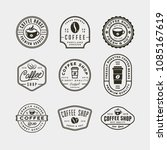 set of modern vintage coffee... | Shutterstock .eps vector #1085167619