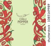 background with chilli pepper ... | Shutterstock .eps vector #1085169989