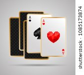 two aces in five card poker...   Shutterstock .eps vector #1085173874