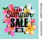 summer sale floral banner.... | Shutterstock .eps vector #1085174168