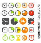 different color timer icons... | Shutterstock .eps vector #108517973