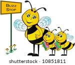 bus stop illustration. | Shutterstock . vector #10851811