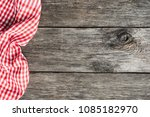 red plaid kitchen textile on... | Shutterstock . vector #1085182970