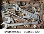 Artist hand tools for wood handicraft - stock photo