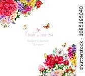 hydrangeas and peonies.... | Shutterstock . vector #1085185040