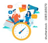 time management  planning... | Shutterstock .eps vector #1085185070
