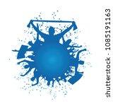 vector silhouette soccer fans... | Shutterstock .eps vector #1085191163