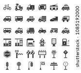 transportation and sign on road ... | Shutterstock .eps vector #1085192000